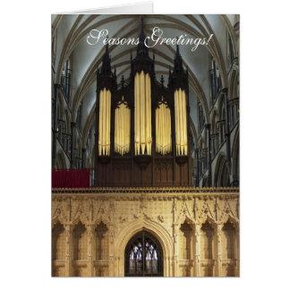 Lincoln Cathedral organ Christmas card
