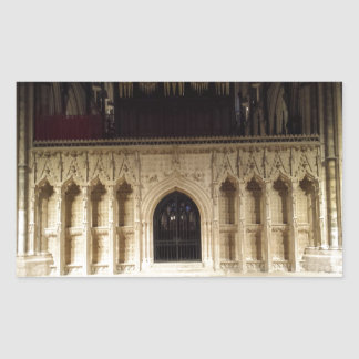Lincoln Cathedral Rectangular Sticker