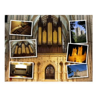 Lincoln Cathedral,  UK montage postcard