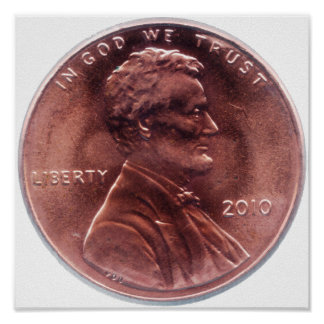 Lincoln Cent Poster
