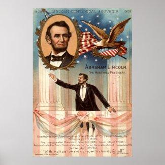 Lincoln Centennial Souvenir, 1908 Vintage print