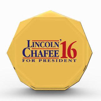 """Lincoln Chafee 2016 Acrylic Award"