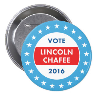 Lincoln Chafee 2016 3 Inch Round Button