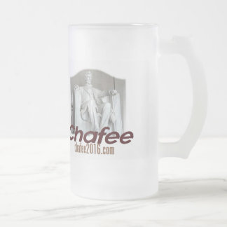 Lincoln CHAFEE 2016 Frosted Glass Beer Mug