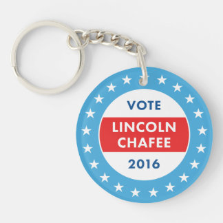 Lincoln Chafee 2016 Double-Sided Round Acrylic Keychain