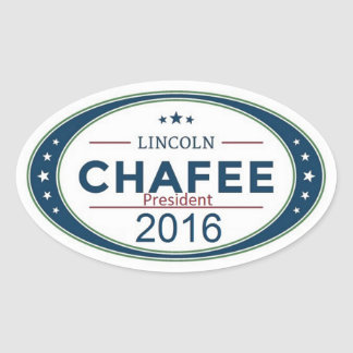 Lincoln CHAFEE 2016 Oval Sticker