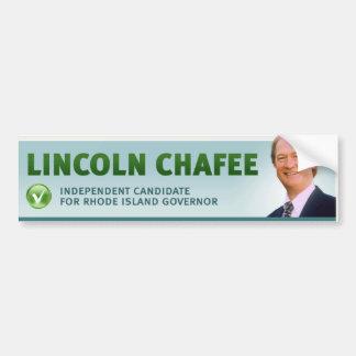 Lincoln Chafee con el control y el perfil Etiqueta De Parachoque