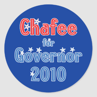 Lincoln Chafee for Governor 2010 Star Design Classic Round Sticker