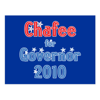 Lincoln Chafee for Governor 2010 Star Design Postcard