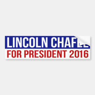 Lincoln Chafee For President 2016 Bumper Sticker