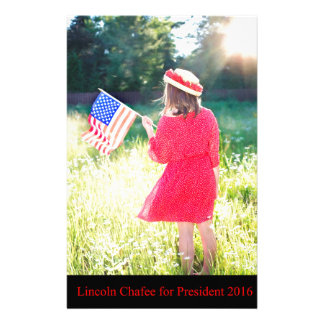 Lincoln Chafee for President 2016 Stationery