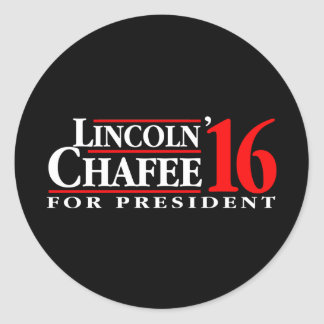 Lincoln Chafee For President Classic Round Sticker