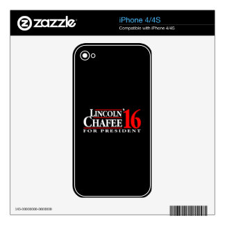 Lincoln Chafee For President Decal For The iPhone 4