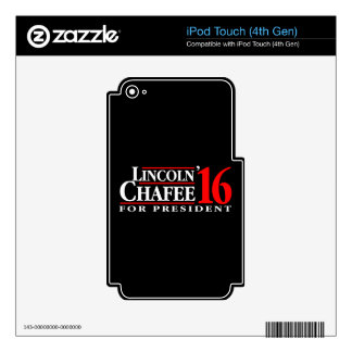 Lincoln Chafee For President Decals For iPod Touch 4G