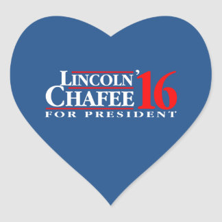 Lincoln Chafee For President Heart Sticker