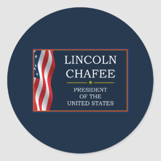 Lincoln Chafee for President V3 Classic Round Sticker