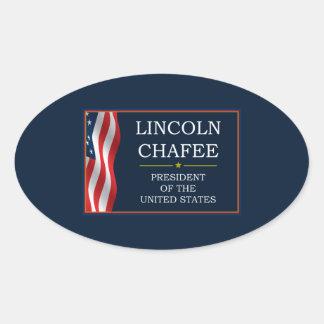 Lincoln Chafee for President V3 Oval Sticker