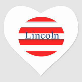 Lincoln Chafee Heart Sticker