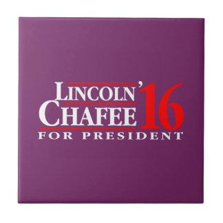 Lincoln Chafee para el presidente Azulejo Cuadrado Pequeño
