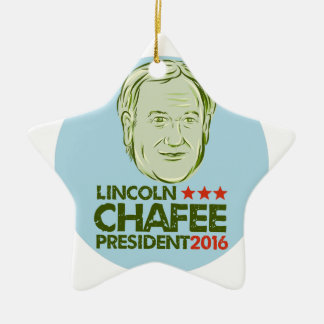 Lincoln Chafee President 2016 Ceramic Ornament