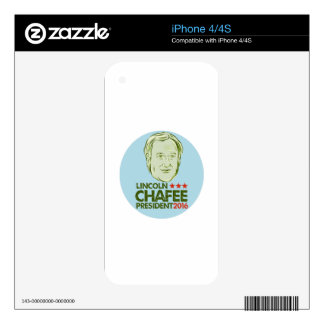 Lincoln Chafee President 2016 iPhone 4 Skin