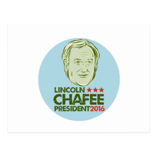 Lincoln Chafee President 2016 Postcard