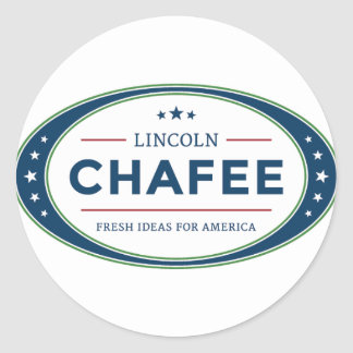 Lincoln Chafee presidential election 2016 Classic Round Sticker