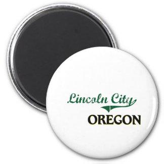 Lincoln City Oregon Classic Design 2 Inch Round Magnet