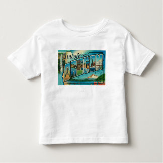 Lincoln City, Oregon - Large Letter Scenes Toddler T-shirt