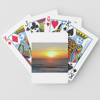 Lincoln City, Oregon - Sunset Bicycle Playing Cards