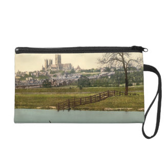 Lincoln City View, Lincolnshire, England Wristlet Purse