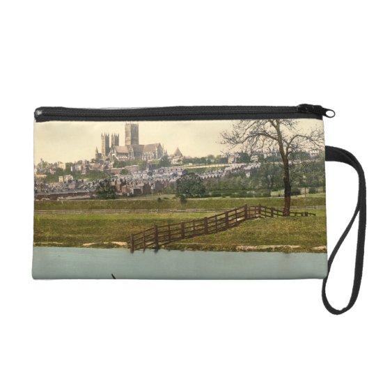 Lincoln City View, Lincolnshire, England Wristlet Purse