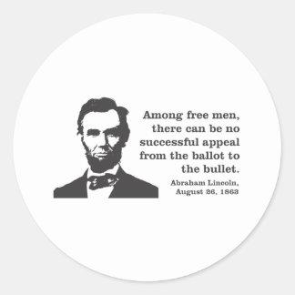 Lincoln Classic Round Sticker