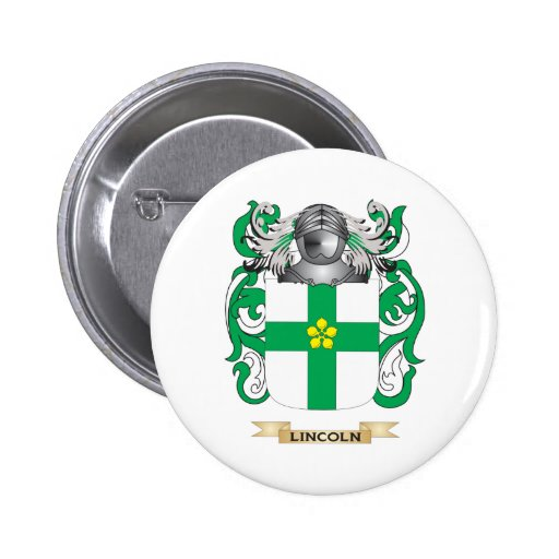 Lincoln Coat of Arms (Family Crest) 2 Inch Round Button