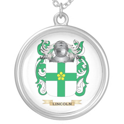 Lincoln Coat of Arms (Family Crest) Custom Jewelry