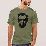 Lincoln con las gafas de sol tipo aviador - negro playera