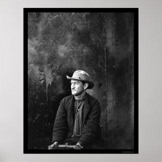 Lincoln Conspirator Edward Spangler 1865 Poster