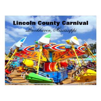 Lincoln County Carnival - Brookhaven, Mississippi Postcard