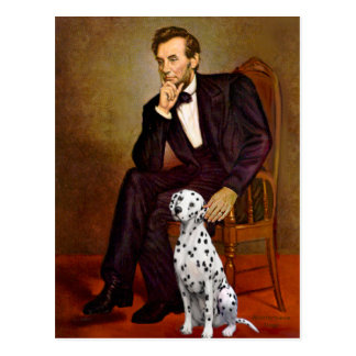 Lincoln - Dalmatian Post Card