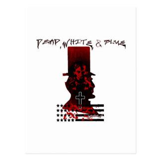 Lincoln Dark Top Hat-Dead, White & Blue Postcard