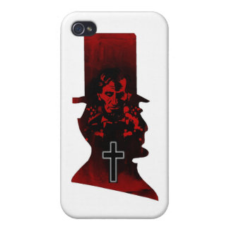 Lincoln Dark Top Hat iPhone 4/4S Case