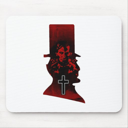 Lincoln Dark Top Hat Mouse Pad