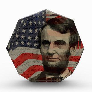 Lincoln day acrylic award