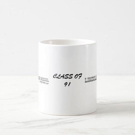Lincoln de clase superior del Swag 91 Taza Básica Blanca
