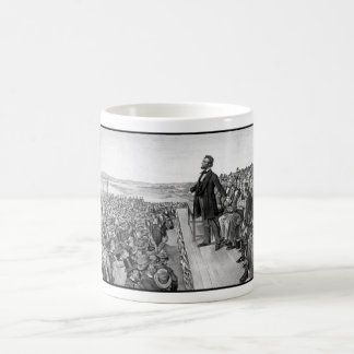 Lincoln Delivering The Gettysburg Address Classic White Coffee Mug