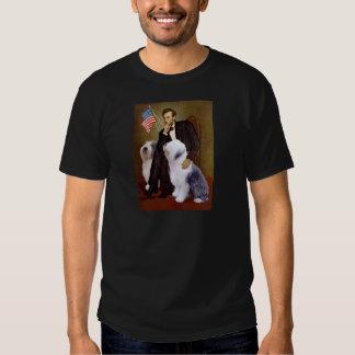 Lincoln - dos perros pastor ingleses viejos polera