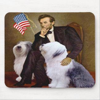 Lincoln - dos perros pastor ingleses viejos tapetes de ratones