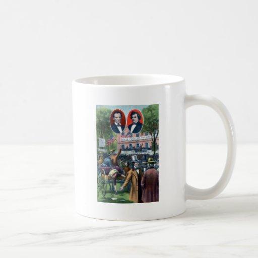 Lincoln-Douglas Debate of 1858 Classic White Coffee Mug