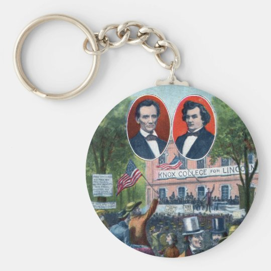 Lincoln-Douglas Debate of 1858 Keychain