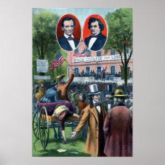 Lincoln-Douglas Debate of 1858 Poster